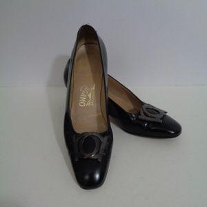 Salvatore Ferragamo Black Heels Womans 7 AA